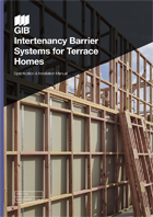 Landing Page GIB Intertenancy Barrier Systems for Terrace Homes Specification and Installation Manual Cover